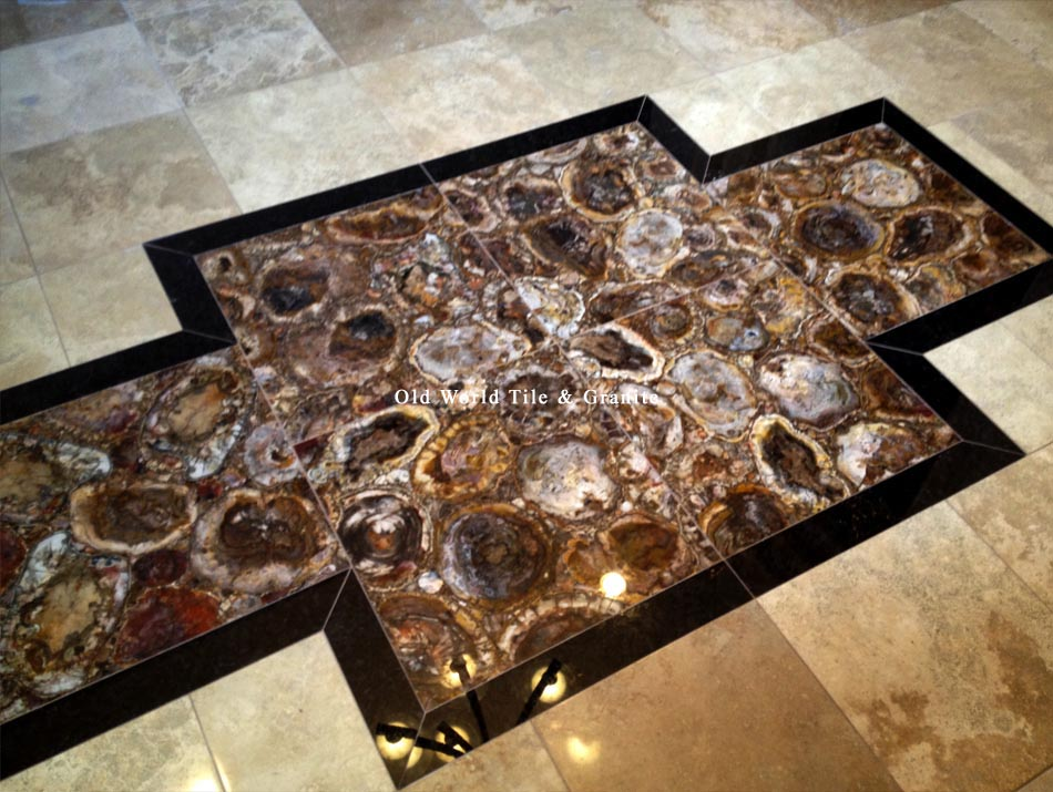 Front Foyer Tile Pictures : Gem surfaces ® gemstone tiles on a luxury front foyer